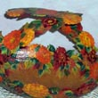 autumn leaves gourd  basket
